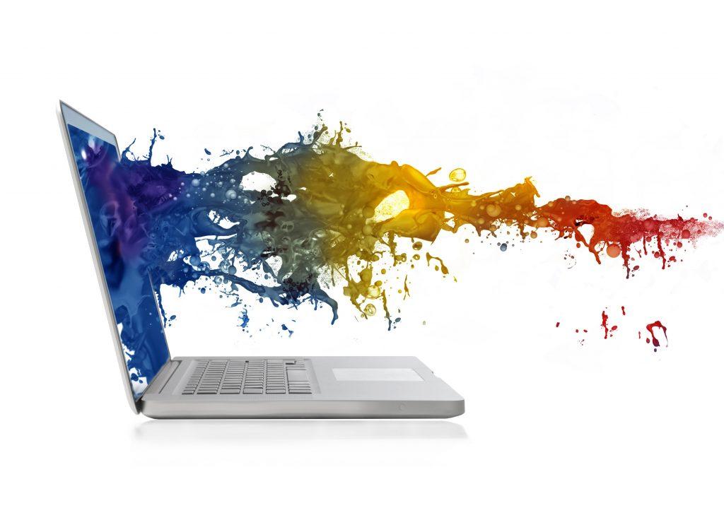 colourful-computer-process